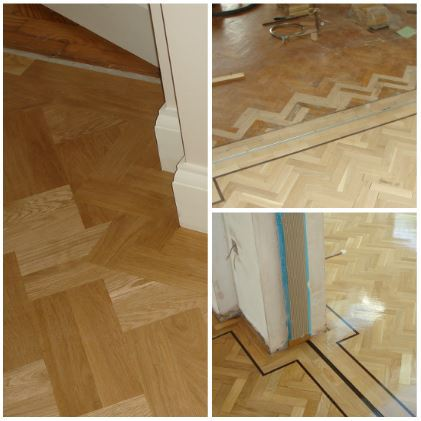 different patterns achieved using parquet flooring