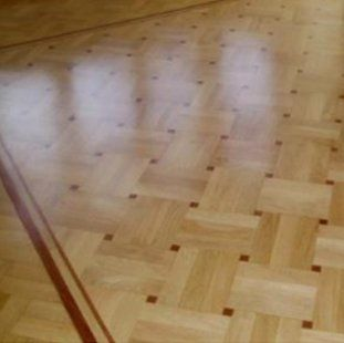 patterned parquet flooring
