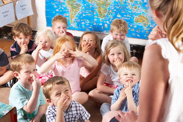 kids inside the class