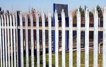 metal fence protecting business
