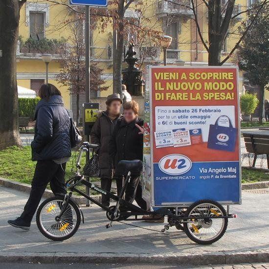 bicicletta pubblicitaria