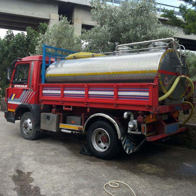 Camion cisterna per trasporto acqua in provincia di Palermo