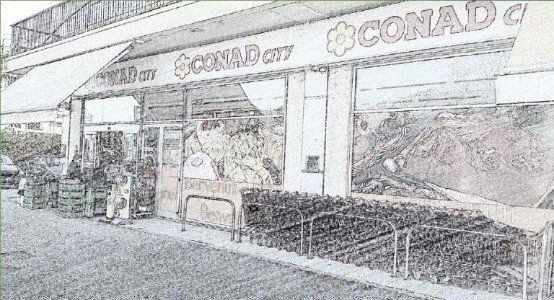Illustrazione dell'esterno del supermercato