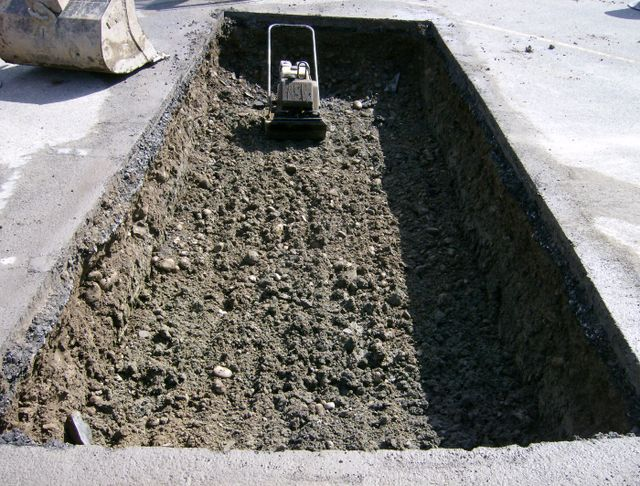 Septic tank in a construction site