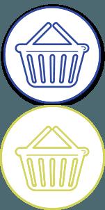 A basket icon