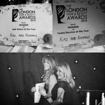Best salons and best hairdressers awards to kay and kompany salon in london n10 muswell hill.