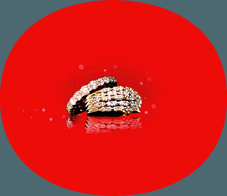 Alleanza e anello d'oro con diamanti