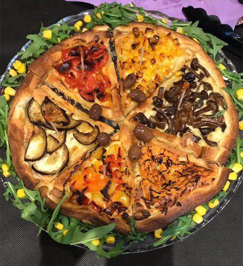 pasta di pizza con verdure