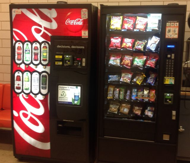 Coke Bottle & Snack  Machine with Credit Card readers