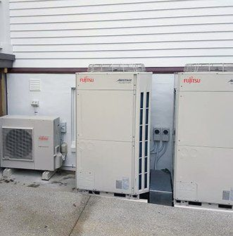Fujitsu air conditioner installed