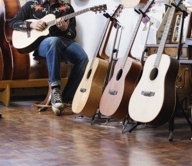 chitarre basso, chitarre classiche, leggii