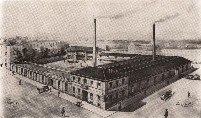 foto in bianco e nero della prima fabbrica