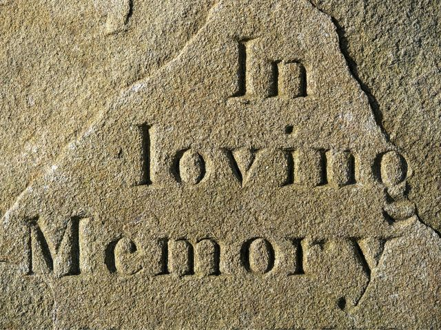 Engraved headstone