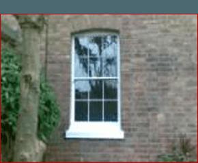 Restored sash windows