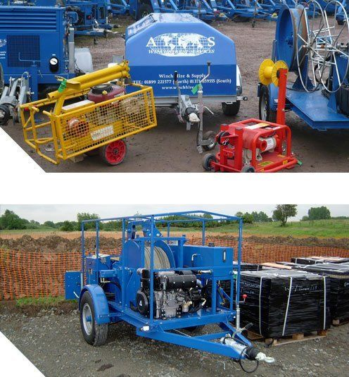Cable Pulling Winch Trailer | Atlas Winch & Hoist Services Ltd