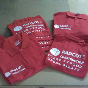 Radcot Construction print on the tshirt