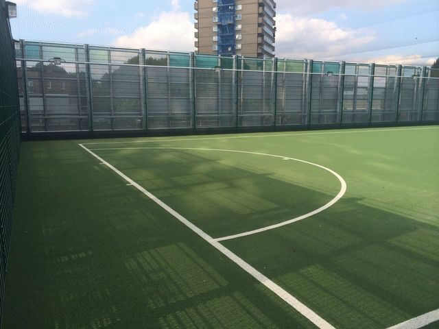rooftop Muga  polymeric rubber surface