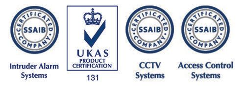 Logos of UKAS Certification - Intruder Alarm, CCTV and Access Contol Systems