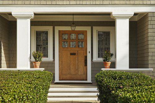 Custom wooden front door in Cincinnati
