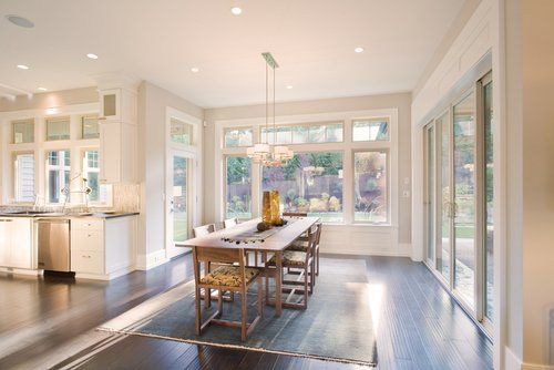 Beautiful dining room with an outstanding custom window installation in Cincinnati