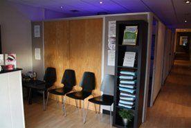 Reception desk at Suntrap Tanning Studios
