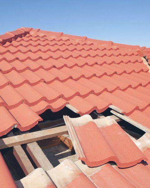damaged tile roof