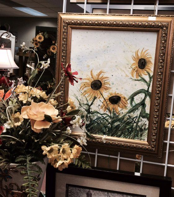 Artificial Flowers, sunflowers, Sunflower painting, art.