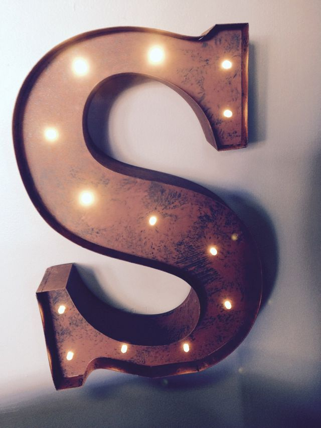 Light up letter, metal letters, rustic metal letter, lighted letters with timer