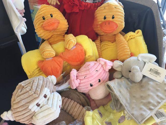 plushes, baby plushes, stuffed animals, baby ducks, baby monkeys