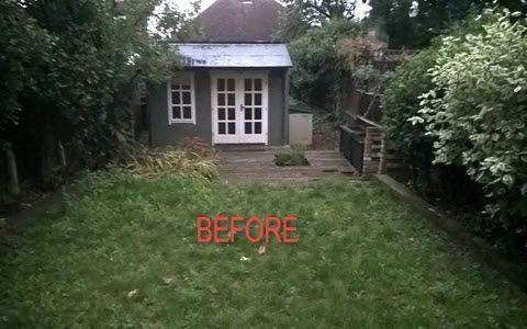 garden before build