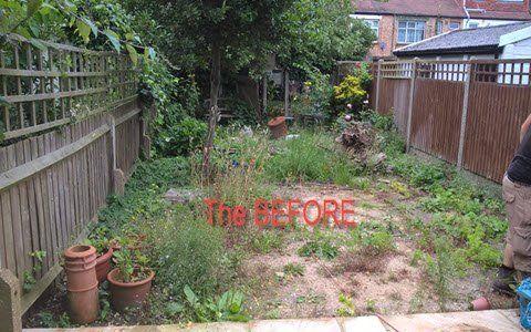 before garden build