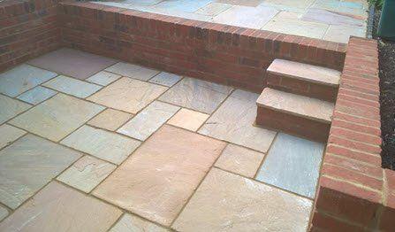 retaining garden brick wall