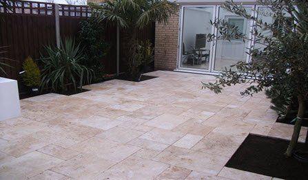 planting  patio paving area