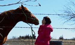 women with horse