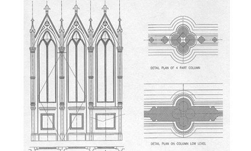 Architecture plan of the church