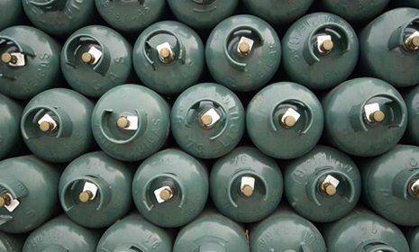 assortimento bombole del gas
