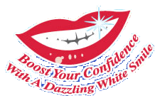 Boost your confidence with a dazzling white smile logo