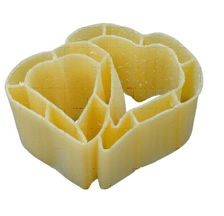 pasta a forma di cuoricini