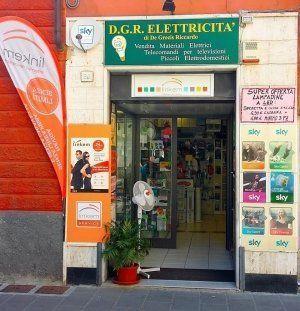 vista esterna del negozio D.G.R elettricita
