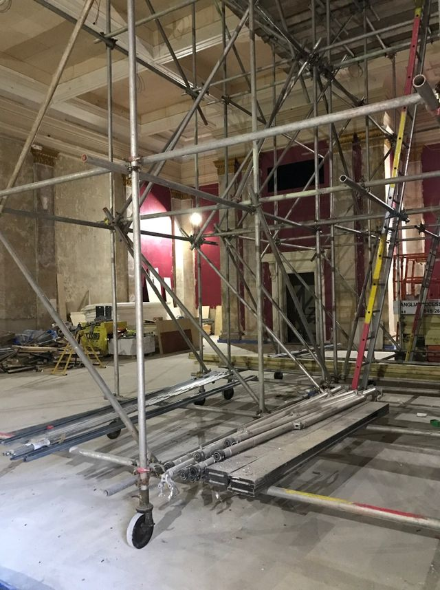 The Corn Hall Main Hall renovation