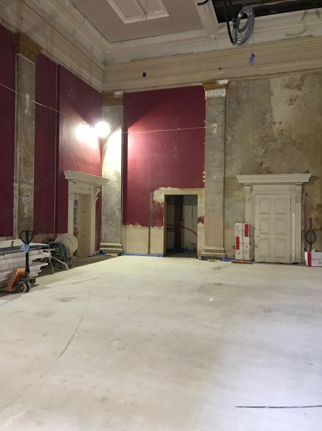 The Corn Hall Main hall partially renovated