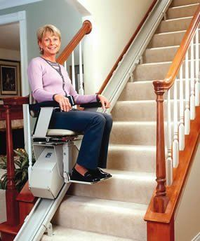 Straight staircase stairlift