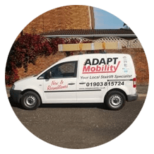 side view of the ADAPT Mobility van