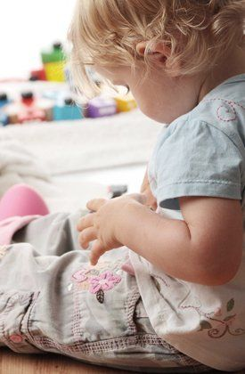 Small child in a nursery