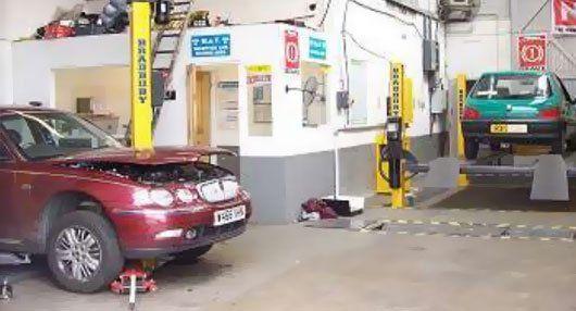 damaged car repair