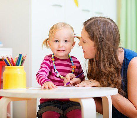 teacher with a kid