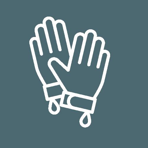 Worker gloves icon