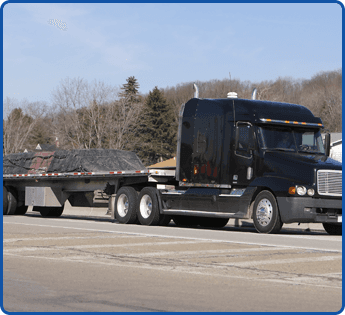 Flatbed Trailer on a Semi Truck