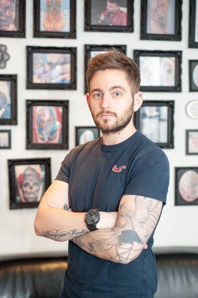 Tattoo artist Lee Aitken