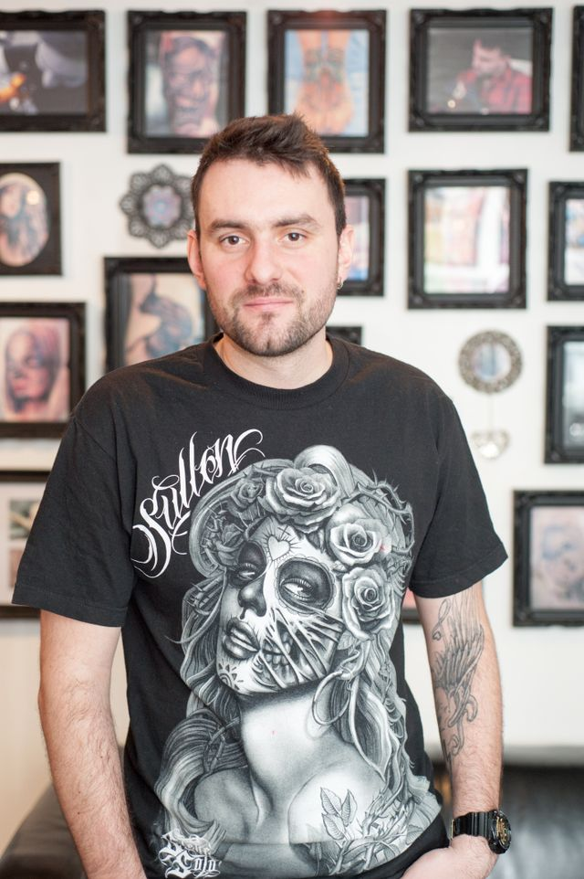 Tattoo artist Tomaz Wrobel